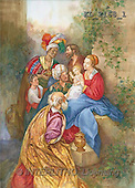 Interlitho, Sue Allison, HOLY FAMILIES, paintings, Holy Family, 3 kings(KL2168/1,#XR#)