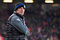 Wigan Athletic Manager Paul Cook glances at the score board while his team are 2-1 up with 30 mins to play during AFC Bournemouth vs Wigan Athletic, Emirates FA Cup Football at the Vitality Stadium on 6th January 2018