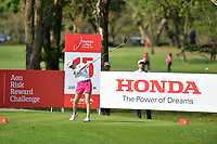 PATTAYA, THAILAND - FEBRUARY 22: Hina Arakaki of Japan on the 15th tee during the second round of the Honda LPGA Thailand 2019 at Siam Country Club Pattaya (Old Course), Pattaya, Thailand on February 22, 2019.<br /> .<br /> .<br /> .<br /> (Photo by: Naratip Golf Srisupab/SEALs Sports Images)<br /> .<br /> Any image use must include a mandatory credit line adjacent to the content which should read: Naratip Golf Srisupab/SEALs Sports Images