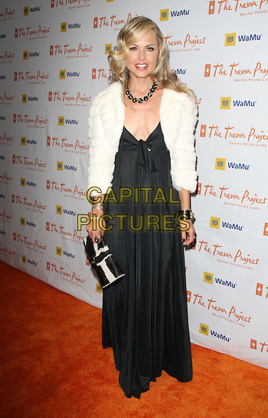 """RACHEL ZOE .11th Annual Trevor Project's """"Cracked XMas"""" Benefit at the Wiltern Theatre, Los Angeles, California, USA..December 7th, 2008.full length black long maxi dress white fur jacket clutch bag .CAP/ADM/KB.©Kevan Brooks/AdMedia/Capital Pictures."""