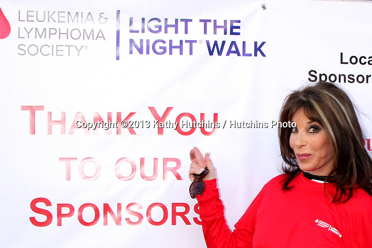 LOS ANGELES - OCT 6:  Kate Linder at the Light The Night The Walk to benefit the Leukemia-Lymphoma Society at Sunset-Gower Studios on October 6, 2013 in Los Angeles, CA