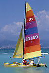 Europe, ESP, Spain, Balearic Islands, Mallorca, El Arenal, Playa de Palma, Sailing ship, Catamaran....[ For each utilisation of my images my General Terms and Conditions are mandatory. Usage only against use message and proof. Download of my General Terms and Conditions under http://www.image-box.com or ask for sending. A clearance before usage is necessary...Material is subject to royalties. Each utilisation of my images is subject to a fee in accordance to the present valid MFM-List...Contact | archive@image-box.com | www.image-box.com ]