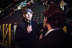 Stockholm 2014-10-02 Ishockey Hockeyallsvenskan AIK - BIK Karlskoga :  <br /> Alexander &quot;The Mauler&quot; Gustafsson intervjuas av AIK:s TV under en periodpaus i matchen mellan AIK  och BIK Karlskoga <br /> (Foto: Kenta J&ouml;nsson) Nyckelord:  AIK Gnaget Hockeyallsvenskan Allsvenskan Hovet Johanneshovs Isstadion Bofors BIK Karlskoga portr&auml;tt portrait TV intervju