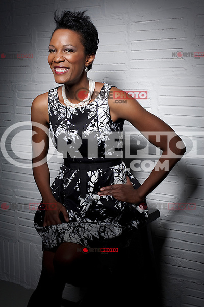 Executive Producer Yvette Johnson poses at the Bookers Place Portrait Session During the 2012 Tribeca Film Festival in New York City. April 21, 2012. © Derek Reed/MediaPunch Inc. ***Premium Rates Only***