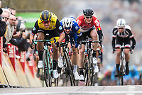 Picture by Alex Broadway/SWpix.com - 05/03/2018 - Cycling - 2018 Paris Nice - Stage Two - Orsonville to Vierzon  - Dylan Groenewegen of Team Lotto NL Jumbo wins the stage.<br /> <br /> NOTE : FOR EDITORIAL USE ONLY. THIS IS A COPYRIGHT PICTURE OF ASO. A MANDATORY CREDIT IS REQUIRED WHEN USED WITH NO EXCEPTIONS to ASO/Alex Broadway MANDATORY CREDIT/BYLINE : ALEX BROADWAY/ASO