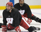 Josh Engel - The University of Wisconsin Badgers practiced on Wednesday, April 5, 2006, at the Bradley Center in Milwaukee, Wisconsin.  The Badgers won the Title by defeating Maine on April 6 and Boston College on April 8.