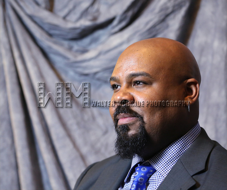James Monroe Iglehart attends the 2014 Tony Awards Meet the Nominees Press Junket at the Paramount Hotel on April 30, 2014 in New York City.