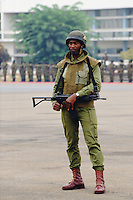 Armed Soldier, Cameroon, Africa