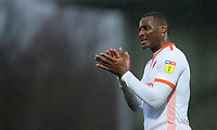 Blackpool's Donervon Daniels applauds the fans at the final whistle<br /> <br /> Photographer Chris Vaughan/CameraSport<br /> <br /> The EFL Sky Bet League One - Burton Albion v Blackpool - Saturday 16th March 2019 - Pirelli Stadium - Burton upon Trent<br /> <br /> World Copyright &copy; 2019 CameraSport. All rights reserved. 43 Linden Ave. Countesthorpe. Leicester. England. LE8 5PG - Tel: +44 (0) 116 277 4147 - admin@camerasport.com - www.camerasport.com