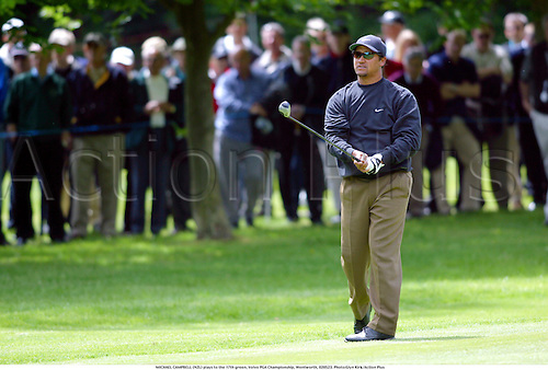 MICHAEL CAMPBELL (NZL) plays to the 17th green, Volvo PGA Championship, Wentworth, 020523. Photo:Glyn Kirk/Action Plus...2002.golf golfers golfer.ball sports