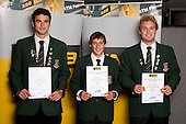 Rowing Boys finalists Oliver Moss, Kyle Battersby and Shaun Houston.   ASB College Sport Young Sportsperson of the Year Awards held at Eden Park, Auckland, on November 11th 2010.