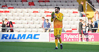 Lincoln City's Josh Vickers applauds the fans at the final whistle<br /> <br /> Photographer Chris Vaughan/CameraSport<br /> <br /> The EFL Sky Bet League One - Lincoln City v Bristol Rovers - Saturday 14th September 2019 - Sincil Bank - Lincoln<br /> <br /> World Copyright © 2019 CameraSport. All rights reserved. 43 Linden Ave. Countesthorpe. Leicester. England. LE8 5PG - Tel: +44 (0) 116 277 4147 - admin@camerasport.com - www.camerasport.com