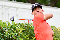 Whee Kim (KOR) watches his tee shot on 15 during round 4 of the Dean &amp; Deluca Invitational, at The Colonial, Ft. Worth, Texas, USA. 5/28/2017.<br /> Picture: Golffile | Ken Murray<br /> <br /> <br /> All photo usage must carry mandatory copyright credit (&copy; Golffile | Ken Murray)