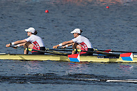 Sarasota. Florida  USA USA W2X. Bow. Meghan O'LEARY and Ellen TOMEK. Silver Medalist. Sunday Final's Day at the  2017 World Rowing Championships, Nathan Benderson Park<br /> <br /> Sunday  01.10.17   <br /> <br /> [Mandatory Credit. Peter SPURRIER/Intersport Images].<br /> <br /> <br /> NIKON CORPORATION -  NIKON D500  lens  VR 500mm f/4G IF-ED mm. 200 ISO 1/1000/sec. f 7.1