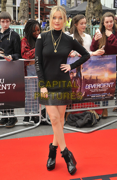 LONDON, ENGLAND - MARCH 30: Laura Whitmore attends the &quot;Divergent&quot; UK film premiere, Odeon Leicester Square cinema, Leicester Square, on Sunday March 30, 2014 in London, England, UK.<br /> CAP/CAN<br /> &copy;Can Nguyen/Capital Pictures