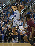 Nevada guard Jazz Johnson (22) jumps to pass the ball against Little Rock in the second half of an NCAA college basketball game in Reno, Nev., Friday, Nov. 16, 2018. (AP Photo/Tom R. Smedes)