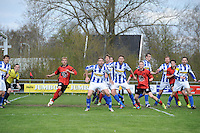VOETBAL: AKKRUM: Sportpark 'De Meine', 19-04-2015, vv Akkrum - vv Gorredijk, Eindstand 1-2, Frido Boersma (#9 | vv Akkrum), ©foto Martin de Jong