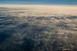 Altostratus clouds over the Great Basin, from high above Nevada.