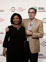 Il direttore artistico della Festa del Cinema di Roma Antonio Monda posa con sua moglie Jaqueline Greaves durante un photocall nella giornata iniziale della Festa del cinema di Roma 26 ottobre 2017.<br /> Rome Film Festival's artistic director Antonio Monda poses with his wife Jaqueline Greaves for a photocall during the international Rome Film Festival at Rome's Auditorium, October 26.<br /> UPDATE IMAGES PRESS/Isabella Bonotto