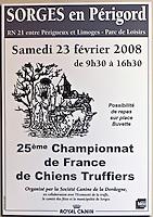 Europe/France/Aquitaine/24/Dordogne/Sorges: Musée de la Truffe, Sorges _ Affiche Championnat de Chiens truffier _ Reproduction - Collection:  Musée de la Truffe, Sorges