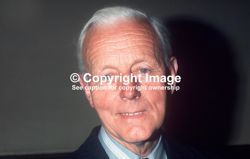 Walter Scott, politician, Ulster Unionist, MP, Bloomfield, 1961 - 1972, N Ireland Parliament, Stormont, Belfast, Deputy Speaker, 1969&ndash;1972. 197306000638<br />