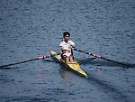 Rowing practise on the Marine Lake at Southport Merseyside UK