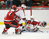 Peter Child (St. Lawrence - 4), Louis Leblanc (Harvard - 20), Alex Petizian (St. Lawrence - 30) - The St. Lawrence University Saints defeated the Harvard University Crimson 3-2 on Friday, November 20, 2009, at the Bright Hockey Center in Cambridge, Massachusetts.