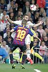 Real Madrid CF's Daniel Carvajal and FC Barcelona's Jordi Alba during La Liga match. March 02,2019. (ALTERPHOTOS/Alconada)