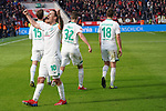 17.03.2019, BayArena, Leverkusen, GER, 1. FBL, Bayer 04 Leverkusen vs. SV Werder Bremen,<br />  <br /> DFL regulations prohibit any use of photographs as image sequences and/or quasi-video<br /> <br /> im Bild / picture shows: <br /> Torjubel / Jubel / Jubellauf,    Max Kruse (Werder Bremen #10), zum 3:1<br /> <br /> Foto © nordphoto / Meuter