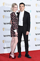 LONDON, UK. February 09, 2019: Lucy Boynton and Rami Malek arriving for the 2019 BAFTA Film Awards Nominees Party at Kensington Palace, London.<br /> Picture: Steve Vas/Featureflash