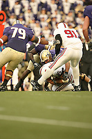 11 November 2006: Chris Horn makes an interception during Stanford's 20-3 win over the Washington Huskies in Seattle, WA.
