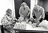 Cooking for elderly at day centre, Nottingham, UK 1980s