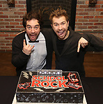 Justin Collette and Conner John Gillooly attends the 'School of Rock' Celebrates Two Years on Broadway at the Brazen Tavern in New York City.