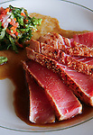 Seared Tuna Medallions is a featured dish at J's Bistro at 4502 Hwy. 6. (Saturday, Sept. 8, 2007, in Houston. ( Steve Campbell / Chronicle)