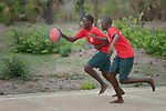Students play basketball at the Loreto Girls Secondary School in Rumbek, South Sudan. The school is run by the Institute for the Blessed Virgin Mary--the Loreto Sisters--of Ireland.
