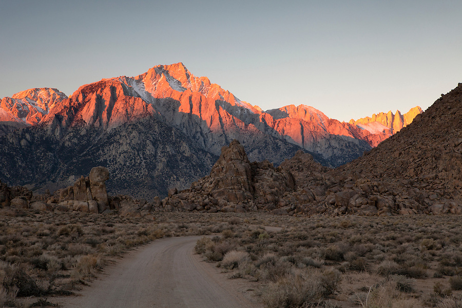 Lone Pine Mountain in the Alabama Hills, Lone Pine, California, USA