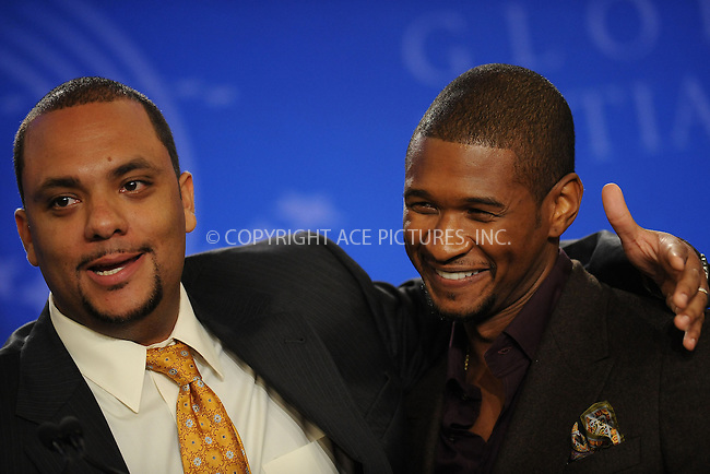 WWW.ACEPIXS.COM . . . . . ....September 24 2009, New York City....Singer Usher (R) at the Clinton Global Initiative on September 24 2009 in New York City....Please byline: KRISTIN CALLAHAN - ACEPIXS.COM.. . . . . . ..Ace Pictures, Inc:  ..tel: (212) 243 8787 or (646) 769 0430..e-mail: info@acepixs.com..web: http://www.acepixs.com