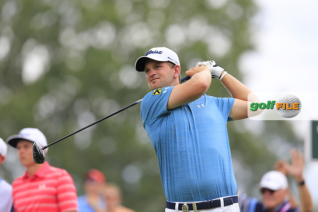 Bernd Wiesberger (AUT) tees off the 11th tee during Friday's Round 2 of the 2017 PGA Championship held at Quail Hollow Golf Club, Charlotte, North Carolina, USA. 11th August 2017.<br /> Picture: Eoin Clarke | Golffile<br /> <br /> <br /> All photos usage must carry mandatory copyright credit (&copy; Golffile | Eoin Clarke)