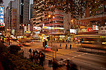 Hong Kong at night from Kowloon  Kowloon's Nathan street is a hive of activity swarming with shoppers, hawkers, street merchants, stalls and shops ranging from high end luxury to lowend necessites.