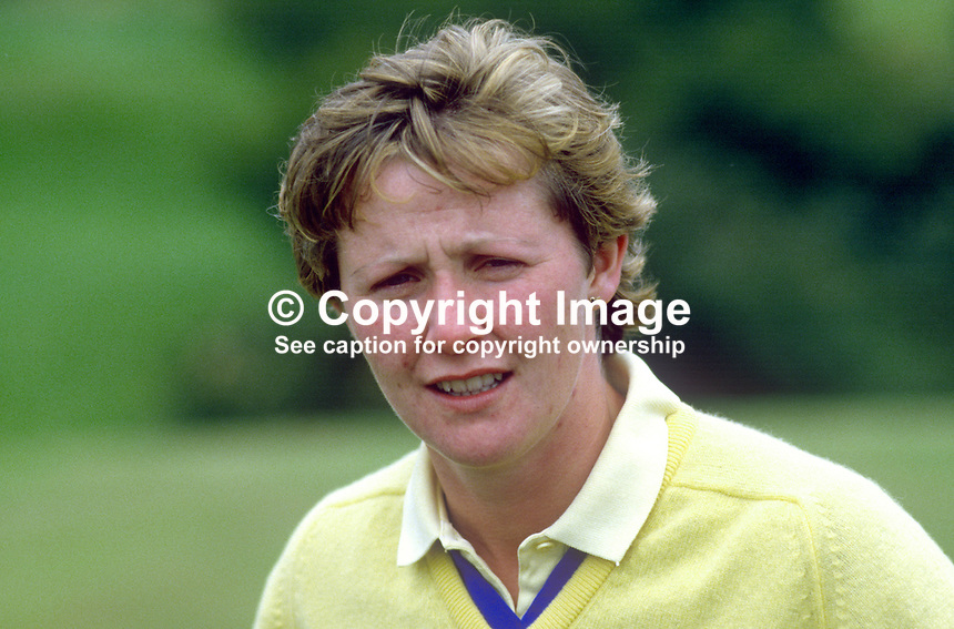Carol Wickham, amateur golfer, Leinster, Rep of Ireland, 19850801CW1..Copyright Image from Victor Patterson, 54 Dorchester Park, Belfast, UK, BT9 6RJ..Tel: +44 28 9066 1296.Mob: +44 7802 353836.Voicemail +44 20 8816 7153.Skype: victorpattersonbelfast.Email: victorpatterson@me.com.Email: victorpatterson@ireland.com (back-up)..IMPORTANT: If you wish to use this image or any other of my images please go to www.victorpatterson.com and click on the Terms & Conditions. Then contact me by email or phone with the reference number(s) of the image(s) concerned.