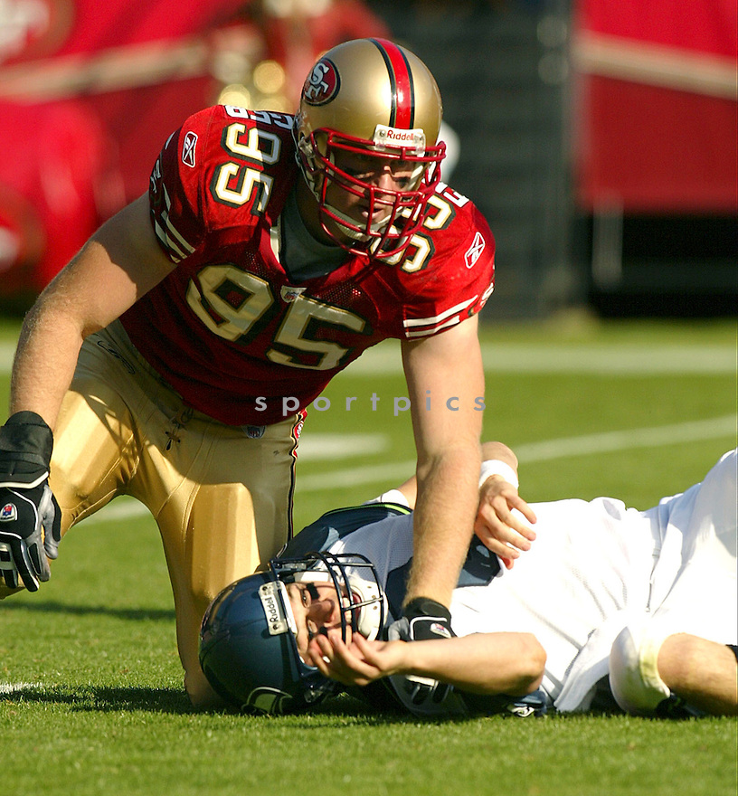 John Engelberger during the San Francisco 49ers v. Seattle Seahawks game on November 7, 2004...Seattle wins 42-27..Rob Holt / SportPics