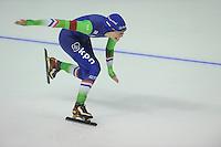 SPEEDSKATING: CALGARY: 13-11-2015, Olympic Oval, ISU World Cup, 500m, Floor van den Brandt (NED), ©foto Martin de Jong