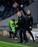 Hull City manager Nigel Adkins shouts instructions to his team from the technical area<br /> <br /> Photographer Chris Vaughan/CameraSport<br /> <br /> The EFL Sky Bet Championship - Hull City v Sheffield Wednesday - Saturday 12th January 2019 - KCOM Stadium - Hull<br /> <br /> World Copyright © 2019 CameraSport. All rights reserved. 43 Linden Ave. Countesthorpe. Leicester. England. LE8 5PG - Tel: +44 (0) 116 277 4147 - admin@camerasport.com - www.camerasport.com