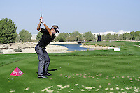 Jbe Kruger (RSA) tees off the par3 8th tee during Friday's Round 3 of the Commercial Bank Qatar Masters 2013 at Doha Golf Club, Doha, Qatar 25th January 2013 .Photo Eoin Clarke/www.golffile.ie