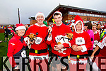 Aisling, Tom, Sean and Ben Quilter, Tralee, at the Santa 5k run which took place at Tralee Wetlands Centre on Sunday.