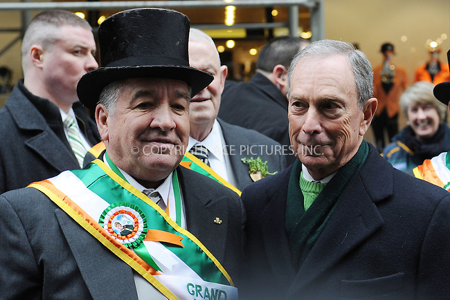 WWW.ACEPIXS.COM . . . . . .March 16, 2013...New York City....Mayor Michael Bloomberg attends the St Patrick's Day Parade on March 16, 2013 in New York City ....Please byline: KRISTIN CALLAHAN - ACEPIXS.COM.. . . . . . ..Ace Pictures, Inc: ..tel: (212) 243 8787 or (646) 769 0430..e-mail: info@acepixs.com..web: http://www.acepixs.com .