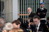 Roma, 19 Novembre 2015<br /> Pierpaolo Pedetti, imputato.<br /> Aula bunker di Rebibbia<br /> Terza udienza del processo Mafia Capitale,