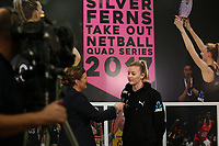 23.05.2019 Katrina Rore of the Silver Ferns during the Silver Ferns squad announcement ahead of the Netball World Cup 2019 at the ILT Stadium in Invercargill. Mandatory Photo Credit Copyright photo: Dianne Manson/Michael Bradley Photography