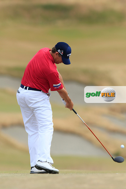 Lee Janzen (USA) tees off the 4th tee during Thursday's Round 1 of the 2015 U.S. Open 115th National Championship held at Chambers Bay, Seattle, Washington, USA. 6/18/2015.<br /> Picture: Golffile | Eoin Clarke<br /> <br /> <br /> <br /> <br /> All photo usage must carry mandatory copyright credit (&copy; Golffile | Eoin Clarke)