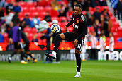 9th September 2017, bet365 Stadium, Stoke-on-Trent, England; EPL Premier League football, Stoke City versus Manchester United; Anthony Martial of Manchester United warms up before the game